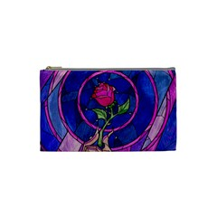 Enchanted Rose Stained Glass Cosmetic Bag (Small)