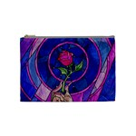 Enchanted Rose Stained Glass Cosmetic Bag (Medium)  Front