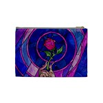 Enchanted Rose Stained Glass Cosmetic Bag (Medium)  Back