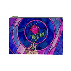 Enchanted Rose Stained Glass Cosmetic Bag (Large)