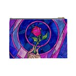 Enchanted Rose Stained Glass Cosmetic Bag (Large)  Back