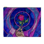 Enchanted Rose Stained Glass Cosmetic Bag (XL) Front