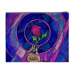 Enchanted Rose Stained Glass Cosmetic Bag (XL) Back