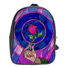 Enchanted Rose Stained Glass School Bags(large)