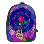 Enchanted Rose Stained Glass School Bags(Large)  Front