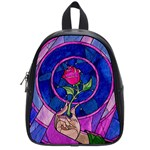 Enchanted Rose Stained Glass School Bags (Small)  Front