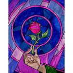 Enchanted Rose Stained Glass Large Memo Pads 4.125 x5.5  Memopad