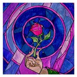 Enchanted Rose Stained Glass Small Memo Pads 3.75 x3.75  Memopad