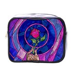 Enchanted Rose Stained Glass Mini Toiletries Bags Front