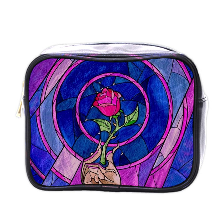 Enchanted Rose Stained Glass Mini Toiletries Bags