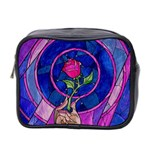 Enchanted Rose Stained Glass Mini Toiletries Bag 2-Side Front