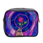 Enchanted Rose Stained Glass Mini Toiletries Bag 2-Side Back