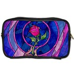 Enchanted Rose Stained Glass Toiletries Bags Front