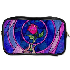 Enchanted Rose Stained Glass Toiletries Bags 2 Side
