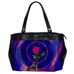 Enchanted Rose Stained Glass Office Handbags Front