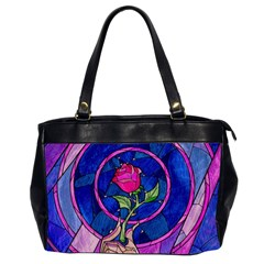 Enchanted Rose Stained Glass Office Handbags (2 Sides)