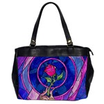 Enchanted Rose Stained Glass Office Handbags (2 Sides)  Front