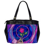 Enchanted Rose Stained Glass Office Handbags (2 Sides)  Back