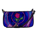 Enchanted Rose Stained Glass Shoulder Clutch Bags Front