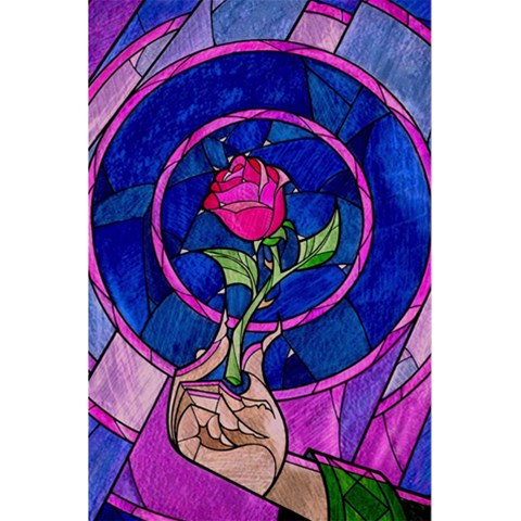 Enchanted Rose Stained Glass 5.5  x 8.5  Notebooks