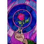 Enchanted Rose Stained Glass 5.5  x 8.5  Notebooks Front Cover