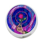 Enchanted Rose Stained Glass 4-Port USB Hub (Two Sides)  Front