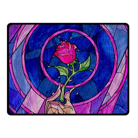 Enchanted Rose Stained Glass Fleece Blanket (Small)