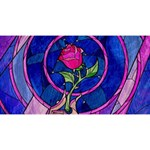Enchanted Rose Stained Glass Magic Photo Cubes Long Side 3