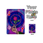 Enchanted Rose Stained Glass Playing Cards 54 (Mini)  Front - Heart4