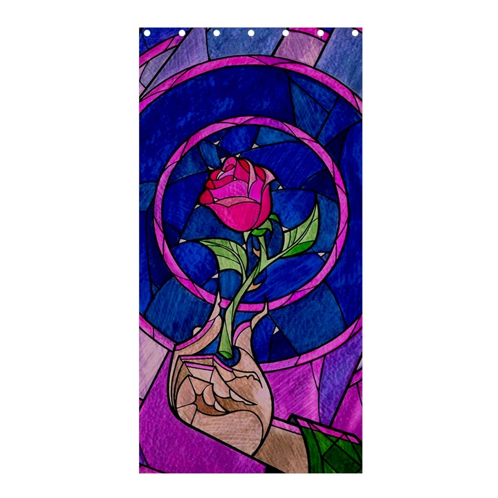Enchanted Rose Stained Glass Shower Curtain 36  x 72  (Stall)