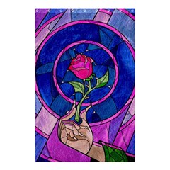 Enchanted Rose Stained Glass Shower Curtain 48  x 72  (Small)