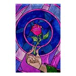 Enchanted Rose Stained Glass Shower Curtain 48  x 72  (Small)  42.18 x64.8 Curtain