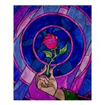 Enchanted Rose Stained Glass Shower Curtain 60  x 72  (Medium)  54.25 x65.71 Curtain