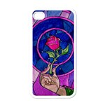 Enchanted Rose Stained Glass Apple iPhone 4 Case (White) Front