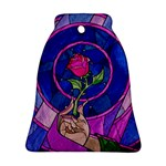 Enchanted Rose Stained Glass Ornament (Bell)  Front