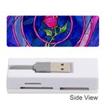 Enchanted Rose Stained Glass Memory Card Reader (Stick)  Front