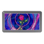 Enchanted Rose Stained Glass Memory Card Reader (Mini) Front