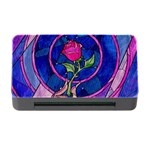 Enchanted Rose Stained Glass Memory Card Reader with CF Front