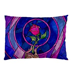 Enchanted Rose Stained Glass Pillow Case (Two Sides)