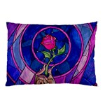 Enchanted Rose Stained Glass Pillow Case (Two Sides) Front
