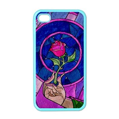 Enchanted Rose Stained Glass Apple iPhone 4 Case (Color)