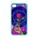 Enchanted Rose Stained Glass Apple iPhone 4 Case (Color) Front