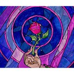 Enchanted Rose Stained Glass Deluxe Canvas 14  x 11  14  x 11  x 1.5  Stretched Canvas