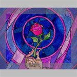 Enchanted Rose Stained Glass Deluxe Canvas 16  x 12   16  x 12  x 1.5  Stretched Canvas