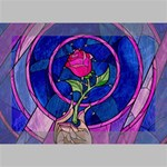 Enchanted Rose Stained Glass Deluxe Canvas 18  x 12   18  x 12  x 1.5  Stretched Canvas