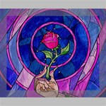 Enchanted Rose Stained Glass Deluxe Canvas 20  x 16   20  x 16  x 1.5  Stretched Canvas