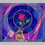 Enchanted Rose Stained Glass Deluxe Canvas 24  x 20   24  x 20  x 1.5  Stretched Canvas