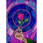 Enchanted Rose Stained Glass BOY 3D Greeting Card (7x5) Inside