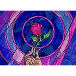 Enchanted Rose Stained Glass BOY 3D Greeting Card (7x5) Back