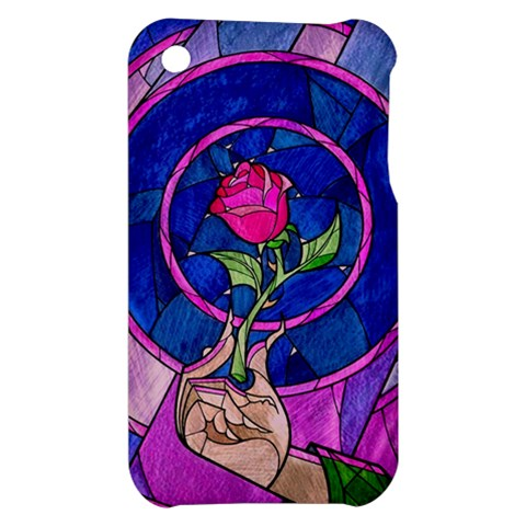 Enchanted Rose Stained Glass Apple iPhone 3G/3GS Hardshell Case